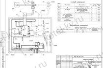 Схема водогрейной котельной с котлами КВр