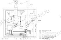 Схема водогрейной котельной с газовыми и жидкотопливными котлами